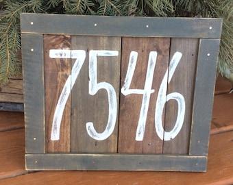 Address Numbers Custom Farmhouse number sign. House numbers. Rustic address. Reclaimed address sign. home address porch sign rustic numbers