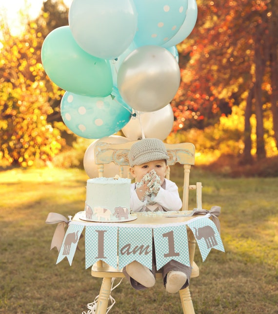 I AM ONE birthday banner Boy 1st birthday banner Highchair
