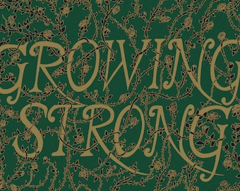 Growing Strong- Game of Thrones-inspired House Tyrell A3 art print- golden roses- FREE WORLDWIDE SHIPPING
