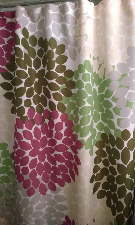 shower curtain purple green custom inspired floral standard. Black Bedroom Furniture Sets. Home Design Ideas