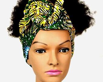 Beautiful African fabric scarf