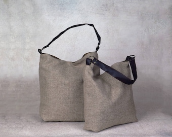 brown purse - over the shoulder purse - over shoulder bag - canvas shoulder bag - canvas hobo bag - womens shoulder bag - womens handbags