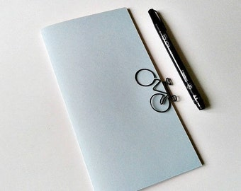 BABY BLUE Traveler's Notebook Insert, Bullet Journal Insert, Gratitude Insert, Midori Insert, Personal Log, Travel Journal, Diary - N281