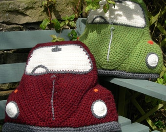 PDF Crochet Pattern for a Cushion Cover based on the Classic VW Beetle / Bug