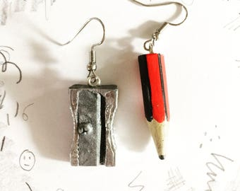 Pencil & Sharpener earrings