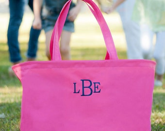 Tote Bag Monogrammed Tote Bag Personalized Tote Bag Ultimate Tote Bag Pink Tote Bag Bridesmaids Gifts Monogrammed Gifts for Her