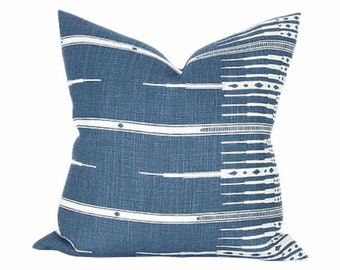 Peter Dunham Tangier in Indigo Pillow Cover /  Size 20""