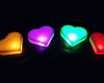 Glowing Sugar hearts