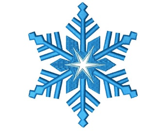 SnowFlake Embroidery Design - 2,3,4 inch size