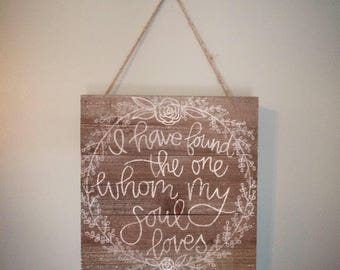 Hand Lettered Rustic Mini Wood Pallet Sign