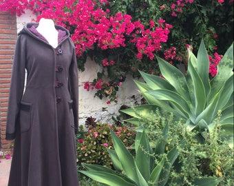 SALE Long Elven Fleece Coat with Lace Hood. Ready Now!