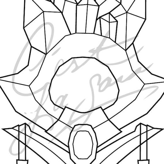 Cosplay pdf vector pattern blueprint crystal maiden staff malvernweather Images