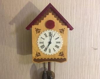 Vintage Soviet Cuckoo Clock Working Clock