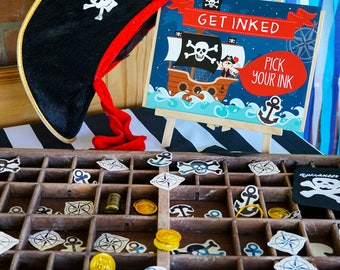 Pirate Party Tattoos - Get Inked