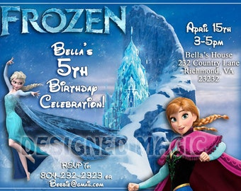 Printable Download Frozen Birthday Invitation