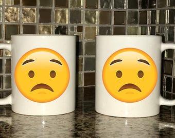 Mug - Worried Emoji