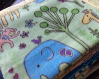 Nursery Animals Fleece Blanket