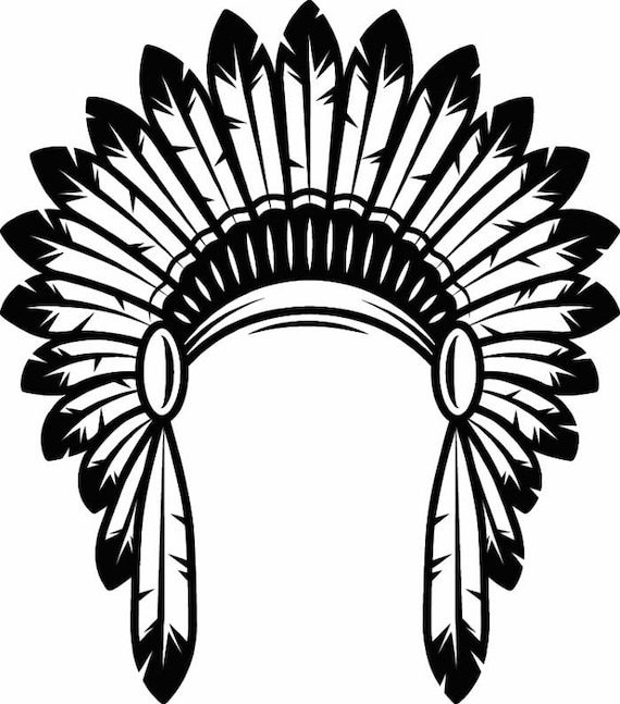 indian headdress 1 native american head dress tribe chief rh etsy com indian feather headdress clipart indian headdress clip art free