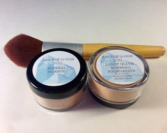 Light Olive Mineral Foundation- Matte Finish-All Natural/Vegan