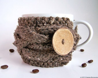 Coffee Mug Cozy, Cup Cozy, Coffee Cup Sleeve, Coffee Cup Cozy, Coffee Sleeve, Coffee Cozy, Rustic Decor, Hygge Decor, Rustic Gifts