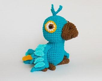 Amigurumi crochet pattern parrot / crocheted parrot / amigurumi bird / parrot / crocheted bird / amigurumi animals /