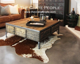 The 36 ZORIA Farms Coffee Table Custom Crate Furniture