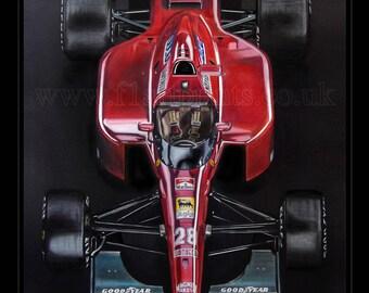 Ferrari 643. A Limited Edition Art Print Faithfully reproduced from an original painting by Tony Regan.