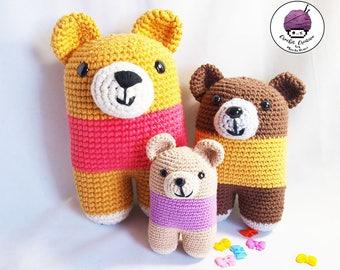 PRE - ORDER / custom bipedal bears amigurumi (hand-knitted crochet)