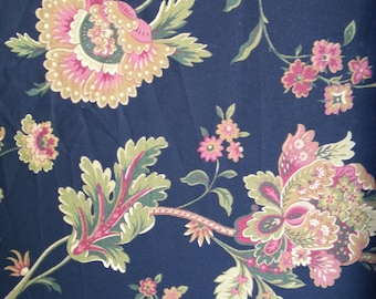 Claremont - Black - Waverly Fabric - Sold by the Yard - 100% Cotton