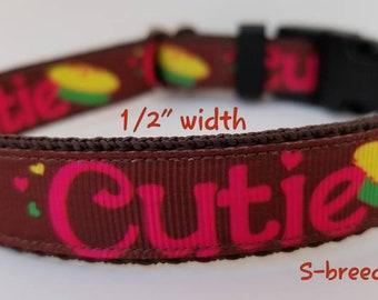 Cutie pie dog/cat collar