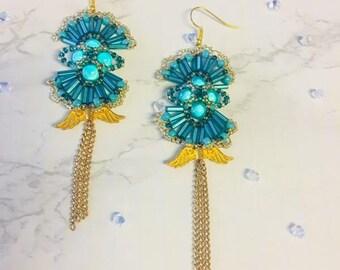 Turquoise Fan-Out Earrings