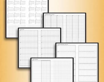 YEARLY planner 2018, calendar planner, #Y (standard inserts, standard travelers notebook insert, standard tn inserts, standard printable)
