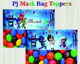 PJ Masks Bag Toppers-Printables Pj Masks Bag Toppers-Pj Masks Favors-Digital Pj Masks Bag Toppers-Pj Masks Party Decoration-DIGITAL DOWNLOAD