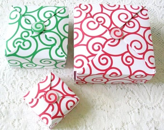 Origami Box - Handmade Christmas Gift Box - Holiday Gift Box - Favor Gift Box - Large Gift Box -Christmas Gift Wrap