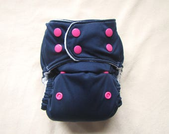 Diaper Cover,Blue Navy,Blue and Pink,Cloth Diaper,Baby Girl,Pocket Diaper,Washable Diaper,Reusable Diaper,Baby Diaper,Cloth Nappy,Diaper