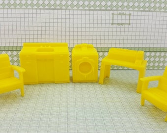 Marx Superior Yellow  laundry  Yellow Washer Chairs Dryer Mangle and Sink Soft  Plastic Laundry room