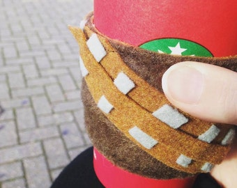 Chewie inspired coffee sleeve