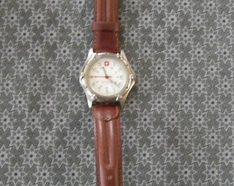 Wenger - Vintage Man's Watch - S.A.K. Design - Brown Leather Band
