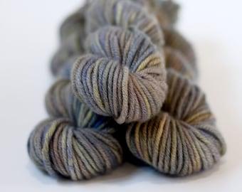 "Hand dyed 100% Cashmere Yarn, ""Snow Veil"", Chunky, Mischa, Cashmere, gray, stone,mist"