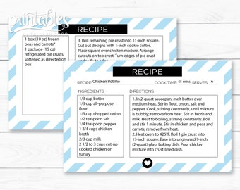 free downloadable recipe cards
