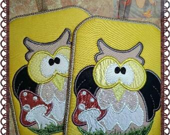 Pot Holders,Owl Hot Pad, Mug Rug, Machine Embroidery Design, Kitchen Decor, Embroidery Machine Pattern, Digital Download, DIY Trivet