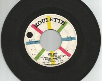 The Playmates 45 rpm Beep Beep
