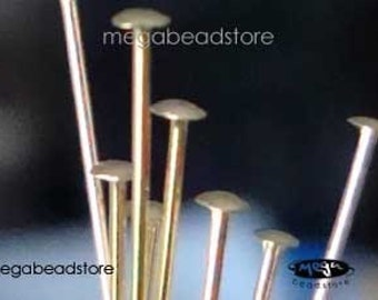 50 pcs 24 gauge 14K Gold Filled HeadPins Flat Head Pins 2 inches F42GF