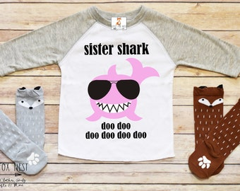 Baby Shark, Sister Shark, Mommy Shark, Shark Birthday Shirt, Shark Tshirt, Shark Shirt, Baby Shark Shirt, Shark Birthday