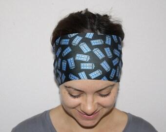 Doctor Who Inspired Yoga Headband, Fitness Headband