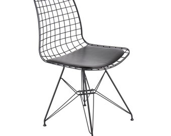 Mid century eames wire chair pop art print modernist modernist for Pop furniture eames