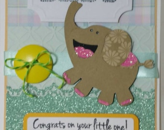 Handcrafted Baby shower  (neutral ) card