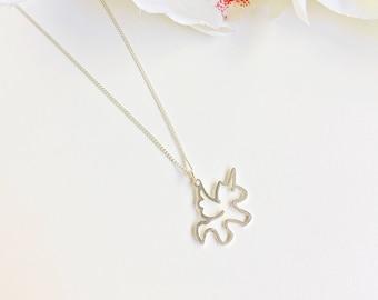 Unicorn Pendant in sterling silver