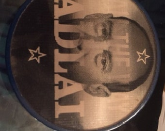 """Adlai Stevenson Flash Hologram Pin """"All The Way With Adlai"""" Good condition. Flasher/Hologram"""