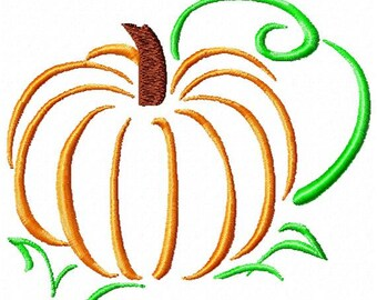 Machine Embroidery Pumpkin Outline